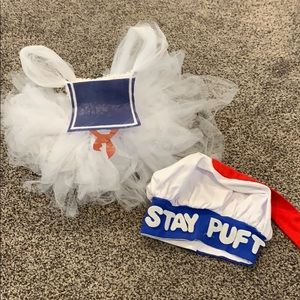 0-3 month Stay Puft Marshmellow baby costume